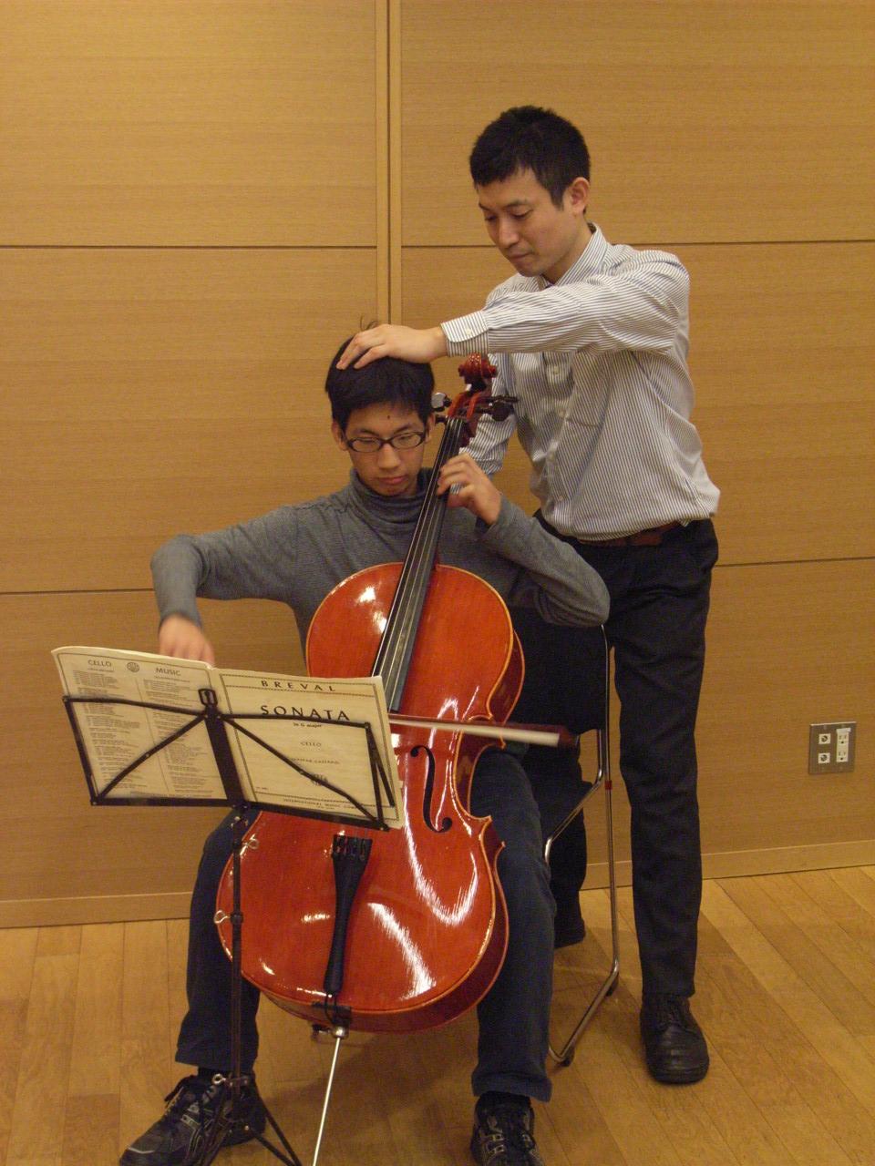 チェロ演奏のアクティビティレッスン1