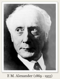 F.M. アレクサンダー (Frederick Matthias Alexander, 1869-1955) の顔写真